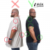 5XL Tee round neck before and after blu